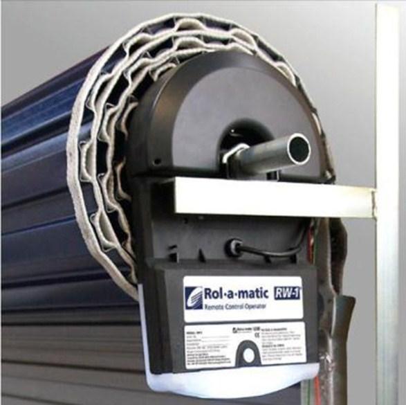 Roller shutter pm garage doors for Roller shutter motor installation